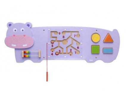 Dřevěná nástěnná hra - hroch  + Nanopodložka, loupač, nebo desinfekce