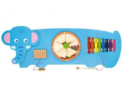 Dřevěná nástěnná hra - slon  + Nanopodložka, loupač, nebo desinfekce
