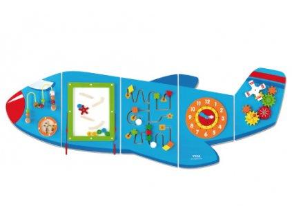 Dřevěná nástěnná hra - letadlo  + Nanopodložka, loupač, nebo desinfekce