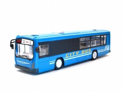 Městský autobus na dálkové ovládání - modrý  + Nanopodložka, loupač, nebo desinfekce