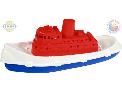 SMĚR Rybářská plastová loď do vody parník do vany