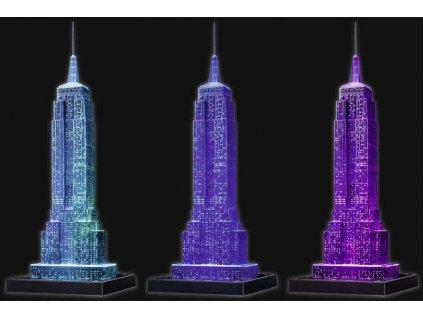 RAVENSBURGER Puzzle 3D Empire State Building Noční edice 216 dílků