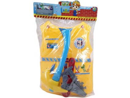Malý opravář dětská set 6ks vesta s nářadím a doplňky v sáčku plast