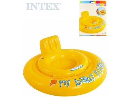 INTEX Kruh s otvory na nohy nafukovací sedátko dětské 70cm s křížem 56585