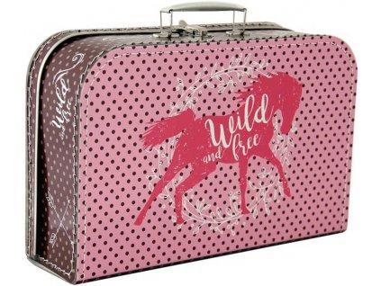 KAZETO Kufr dětský Kůň velký kufřík pro holčičky