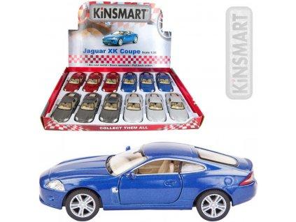 KINSMART Auto model 1:38 JAGUAR XK Coupe kov PB 13cm 4 barvy