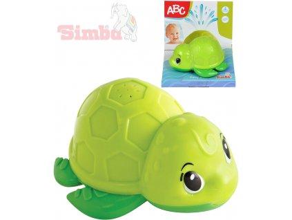 SIMBA Baby želvička do vody 11cm na baterie s vodotryskem plast pro miminko