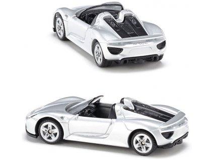 SIKU Auto osobní Porsche 918 Spider stříbrný model 1:55 kov