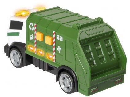 Teamsterz auto zelené popeláři 15cm na baterie Světlo Zvuk plast