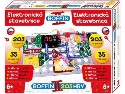 Boffin II. HRY 203 projektů 35 součástek na baterie elektronická STAVEBNICE  + Dárek zdarma