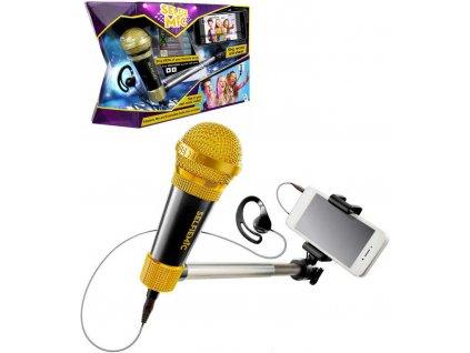 ADC Mikrofon SelfieMic černý set se selfie tyčí a sluchátkem na tvorbu hudebních videí