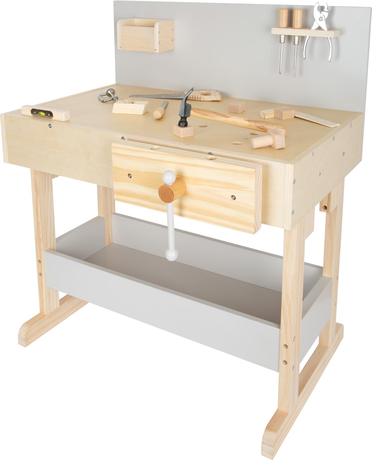 SMALL FOOT BY LEGLER Small Foot Dětský pracovní stůl šedý s nářadím