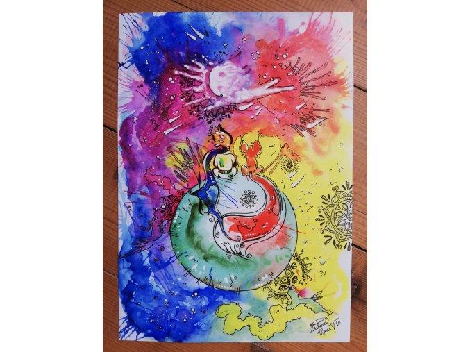 Reprodukce - Sdílení - Malý princ - plakát
