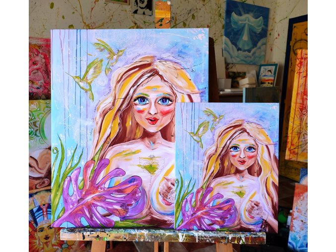 Kráska - reprodukce na plátně