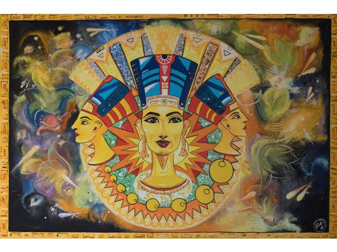 Nefertiti - reprodukce na plátně