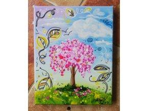 Strom radosti - vítr ve vlasech