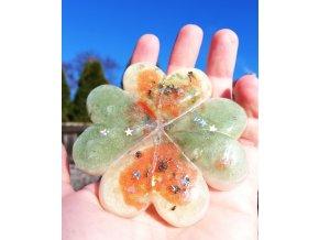 Amulet čtyřlístek pro štěstí - velký
