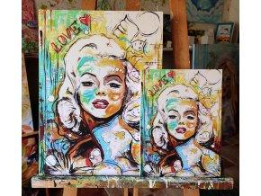 Ve společnosti andělů - reprodukce na plátně
