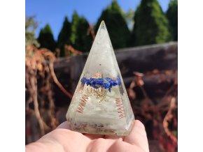 Pyramida - LAPIS LAZULI - fosforující