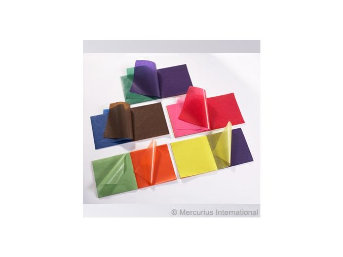 Transparentní papír voskovaný 11 barev, 16 x 16 cm