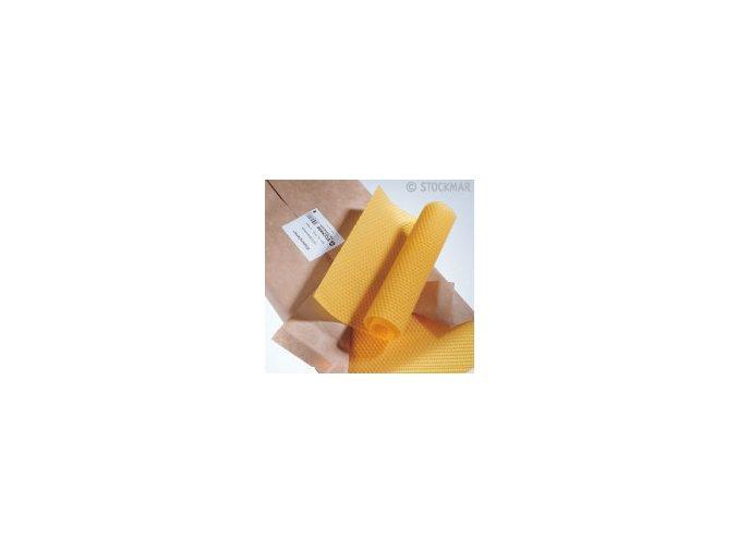 Včelí vosk - plát 4 x 21 cm s knotem