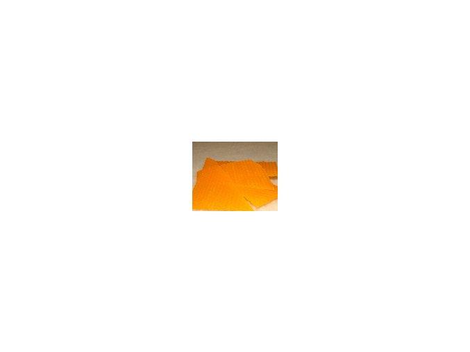 Zbytky barevného včelího vosku  15 g - oranžová