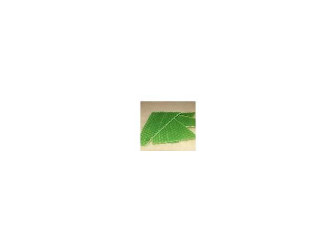 Zbytky barevného včelího voku  20g - zelená