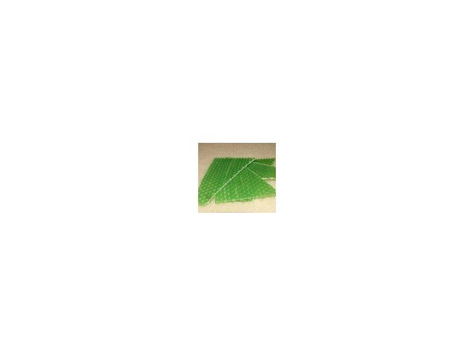 Zbytky barevného včelího vosku  15 g - zelená