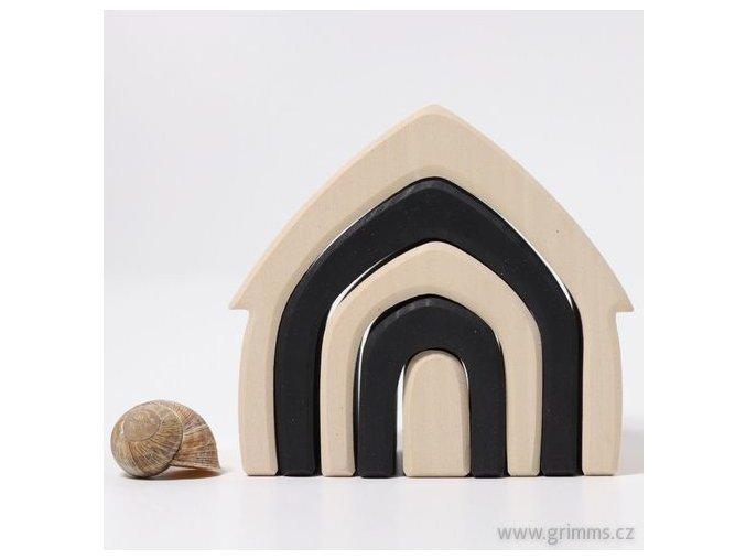 Grimms domeček černo bílý