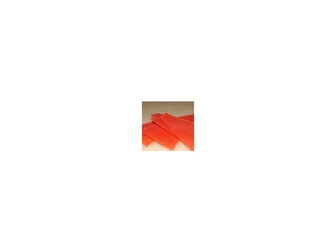 Zbytky barevného včelího voku  20g - červený