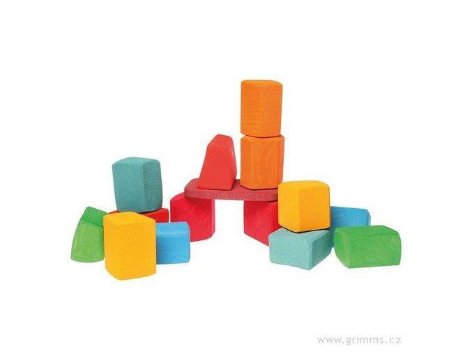 Waldorfské kostky barevné Grimms