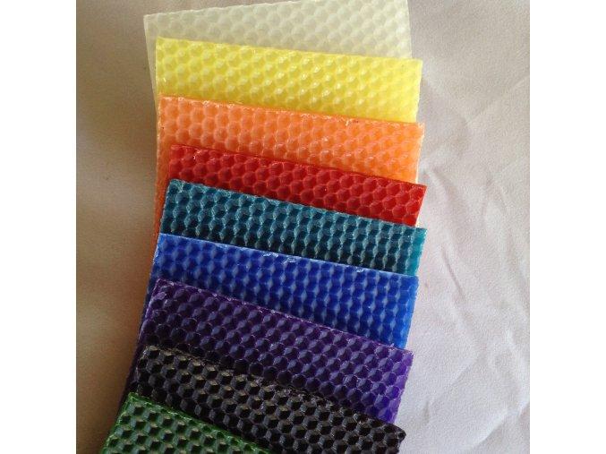 včelí vosk plát barevný