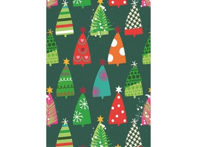 transparentní papír vánoční zelené stromy