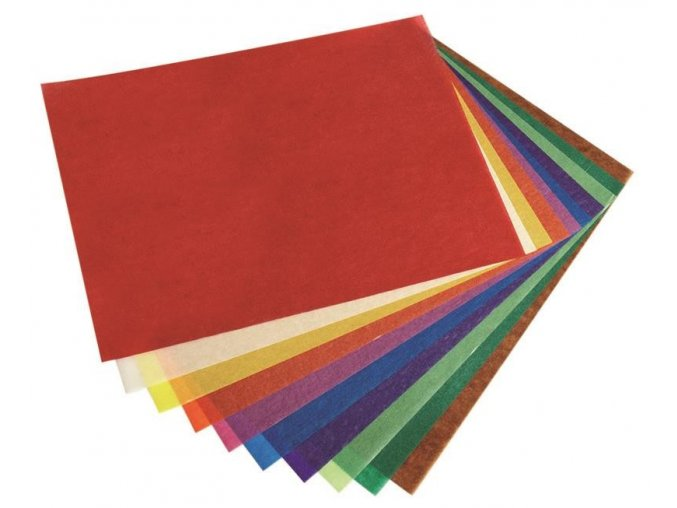 transparentní papír 20x20 cm
