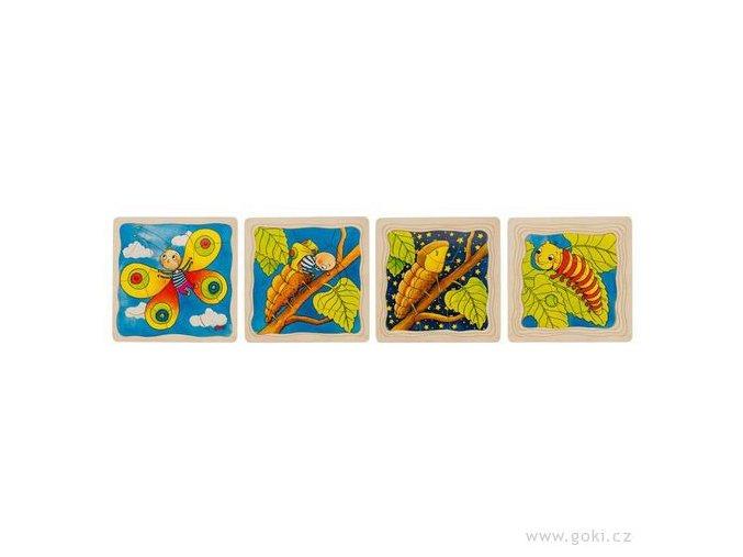 Goki vyvojove puzzle Motyl vyvoj motyla