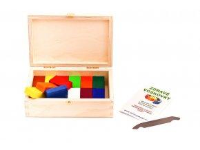 Zdravé voskovky ve dřevěné krabičce – 16 kusů