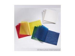 Transparentní papír voskovaný 5 barev, 16 x 16 cm