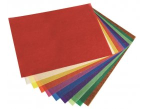 Papír na hvězdy do okna, tranparentní papír barevný archy 35 x 50