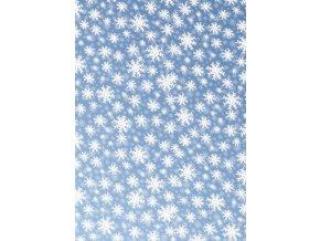 transparentní papír sněhové vločky