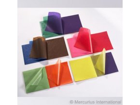 Transparentní papír voskovaný 11 barev, 22 x 22 cm