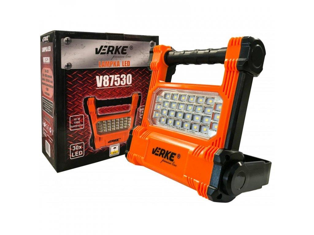 lampa naswietlacz led 10w aku v87530 verke premium line