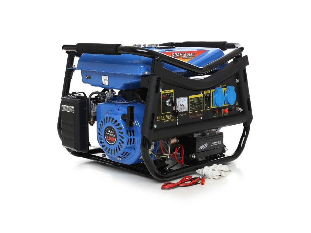 4312 benzinova elektrocentrala 5 2kw 7hp 3000w kraft dele kd143