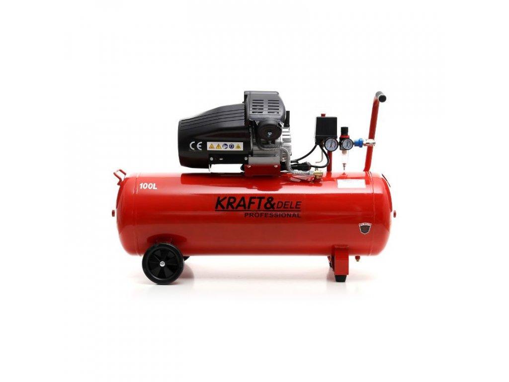 kompresor olejowy 100l 2 tloki kd1480 seperator