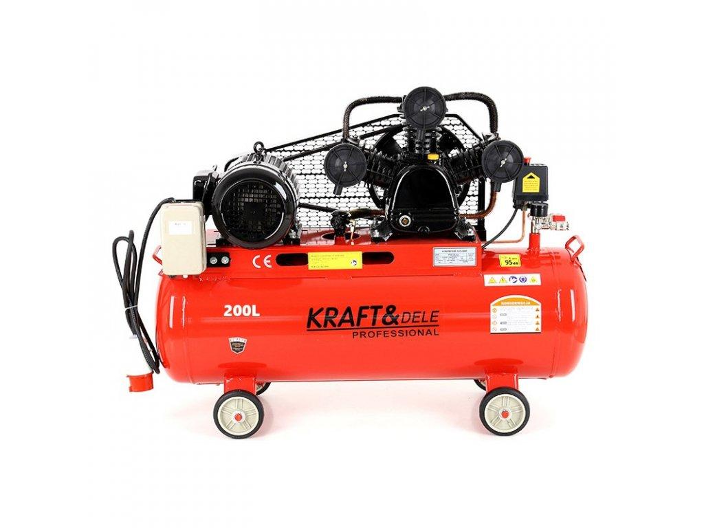 kompresor olejowy 200l 3 tloki kd408