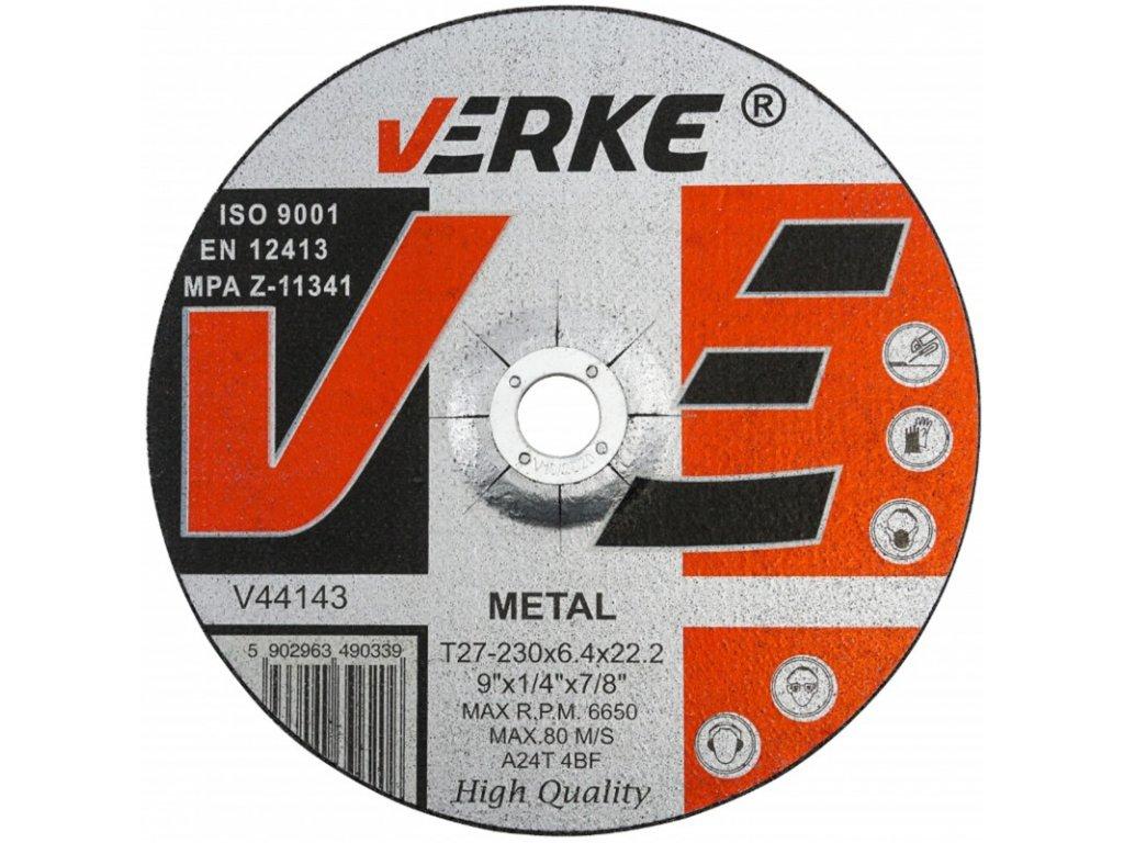 tarcza do szlifowania metalu 230mm x64mm x222 verke 1