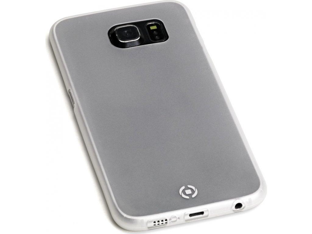 Pouzdro CELLY Frost pro Samsung Galaxy S6 Edge, 0,29mm, bílé