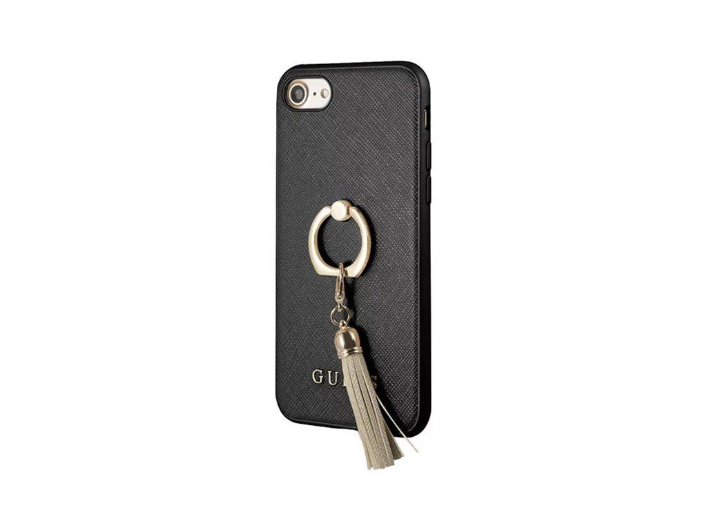 pouzdro guess saffiano ring iphone 7 8 cerne 01
