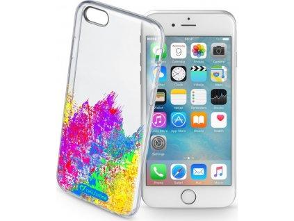 Průhledné gelové pouzdro Cellularline STYLE pro Apple iPhone 5/5S/SE, motiv ART