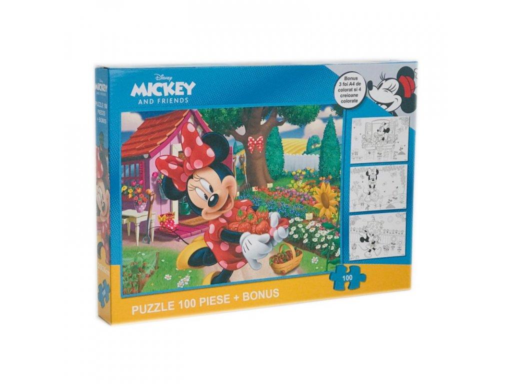 Minnie Mouse (R) puzzle 100ks Záhrada