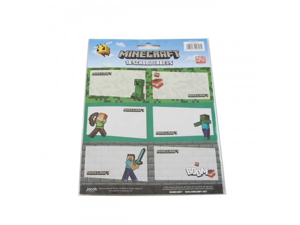 Minecraft (J) štítky na zošity
